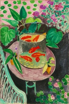 Goldfish abstract fauvism Henri Matisse modern decor still life Oil Paintings