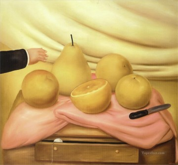 Still life Painting - Still Life with Fruits Fernando Botero