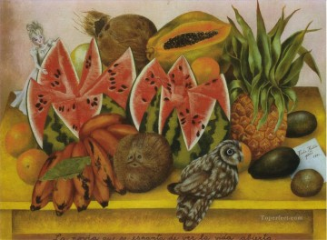 Still life Painting - The Bride Frightened at Seeing Life Opened Frida Kahlo still life decor