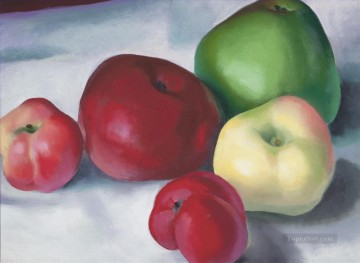Still life Painting - apple family 3 Georgia Okeeffe still life decor
