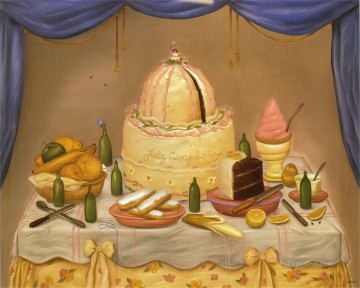 Still life Painting - Happy Birthday Fernando Botero still life decor