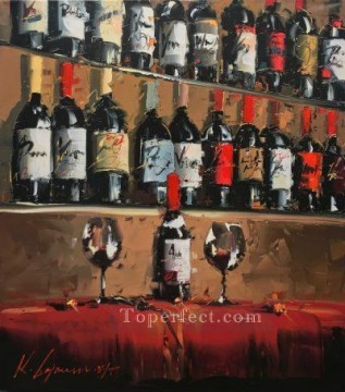 Still life Painting - Wine Bar 1 KG still life decor