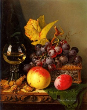 photorealism realism Painting - Black Grapes realism still life