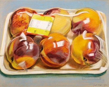 Still life Painting - Peaches JF realism still life