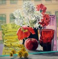 Pinwheels and Poppies JF realism still life