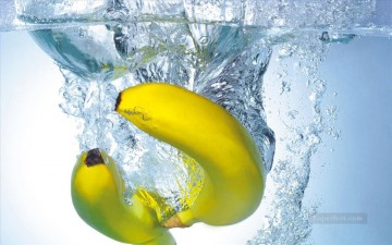 bananas in water realistic Oil Paintings