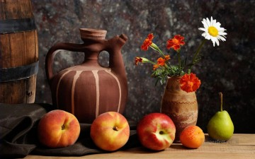 Still life Painting - flowers fruits still life realism
