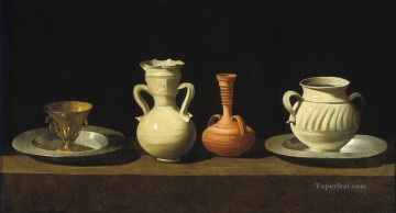 photorealism realism Painting - recipientes realism still life