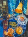 orange lamp and oranges JF realism still life