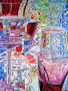 Artworks in 150 Subjects Painting - red wine glass JF realism still life