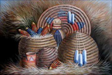 Indiana Oil Painting - west america indiana 70 still life