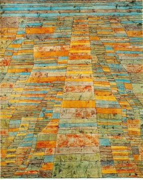 Highway and Byways 1929 Expressionism Bauhaus Surrealism Paul Klee textured Oil Paintings