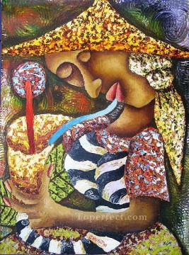 Textured Painting - Muriithi A Sip textured