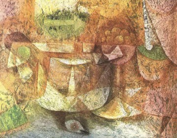 Textured Painting - Still Life with Dove Paul Klee textured
