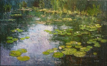 Impression of a Monet Lok water lilies textured Oil Paintings