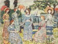 Maurice Prendergast The Grove textured