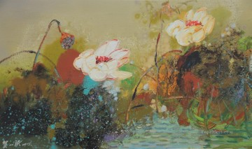 Artworks in 150 Subjects Painting - lotus 3 textured