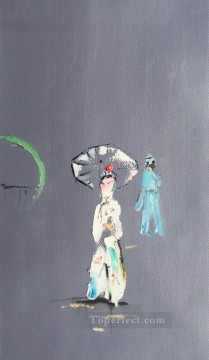 hero beijing opera jacky chen Painting - Chinese Opera by Palette Knife 5