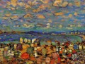 Crescent Beach Maurice Prendergast with texture