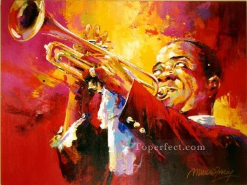 Louis Armstrong textured Oil Paintings