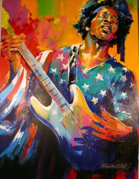 National Anthem bass guitar textured Oil Paintings
