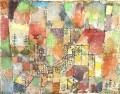 Two country houses Paul Klee with texture
