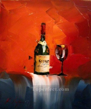 Wine in red 2 KG textured Oil Paintings