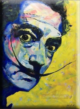 Artworks in 150 Subjects Painting - a portrait of Salvador Dali textured