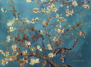 Branch Painting - branch of an almond tree in blossom van gogh