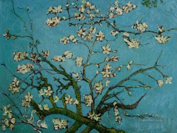 Textured Painting - van gogh branch of an almond tree in blossom