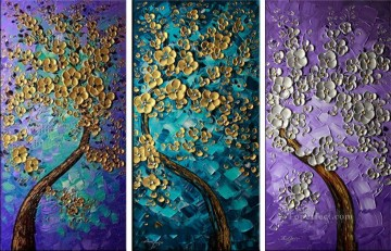 Textured Painting - trees panels 3D Texture