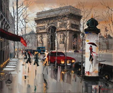 Textured Painting - KG Avenue de Friedland Paris