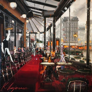 KG Cafe de Flore Action Oil Paintings