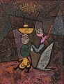 The Travelling Circus Paul Klee with texture