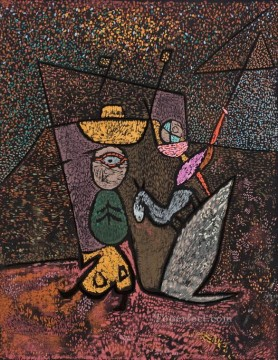 The Travelling Circus Paul Klee with texture Oil Paintings