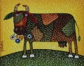 gesso cow with texture