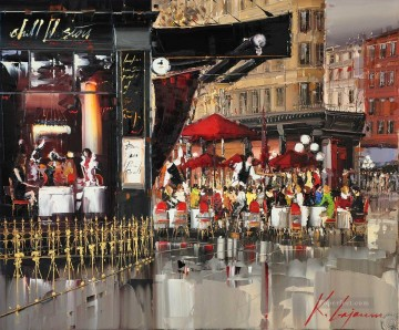 KG Gastown Terrace by Knife Textured Oil Paintings
