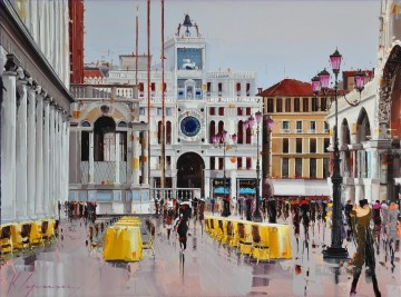Textured Painting - KG Piazza San Marco Venice by Knife Textured