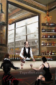 Artworks in 150 Subjects Painting - wine bar 4 KG textured