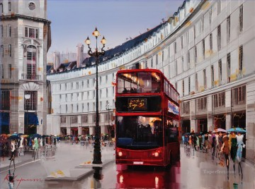 KG Regent Street by Knife Textured Oil Paintings