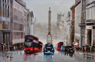 Regent St City of Westminster UK KG textured Oil Paintings
