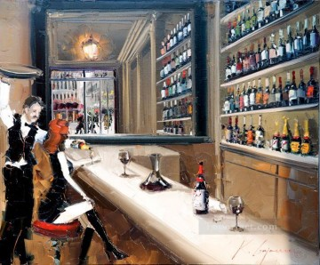 Artworks in 150 Subjects Painting - wine bar 1 KG textured