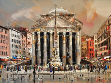 Textured Painting - KG Piazza della Rotonda Roma by Knife Textured