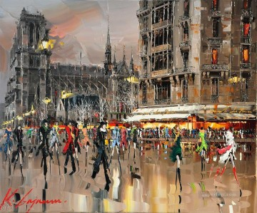KG Saint Michel Notre Dame by Knife Textured Oil Paintings