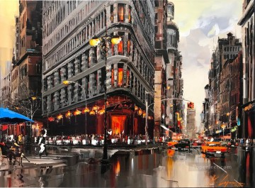 New York 3 KG textured Oil Paintings