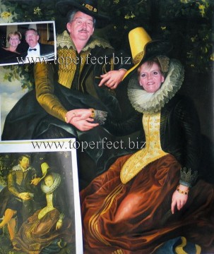 Examples of Portrait Painting - imd005 couple portrait