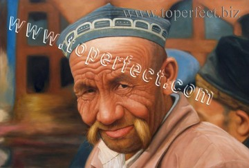 Examples of Portrait Painting - imd006 grandpa portrait