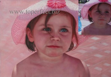 Examples of Portrait Painting - imd013 little girl portrait