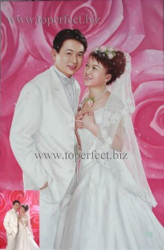 Examples of Portrait Painting - imd014 wedding portrait