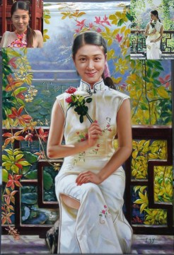 Examples of Portrait Painting - imd018 beautiful girl portrait